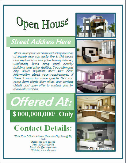 Sample Open House Flyer Template