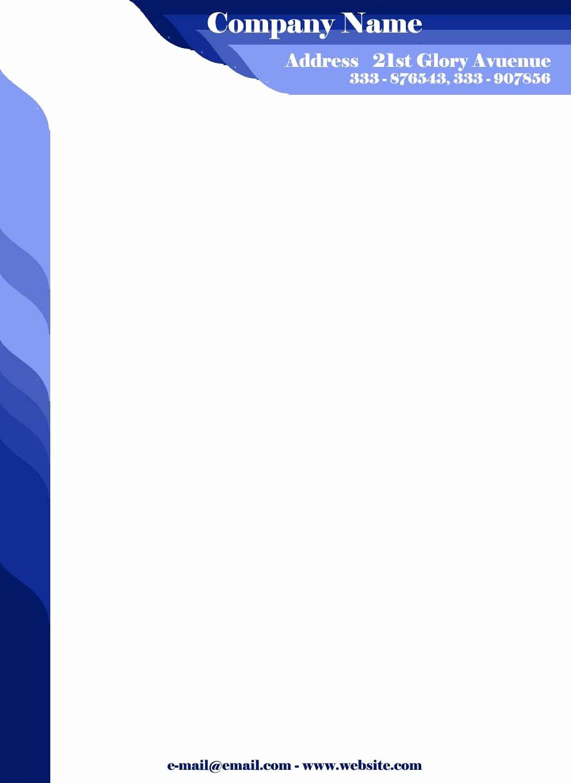 Sample Pany Letter Head Pad