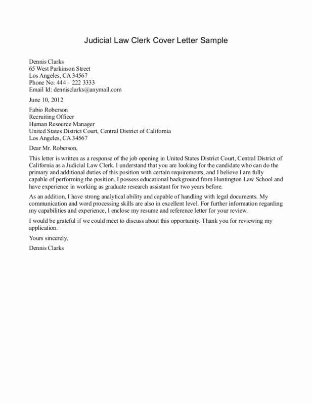 Sample Paralegal Cover Letter