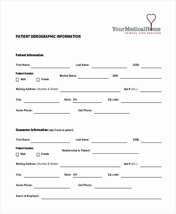 Sample Patient Information forms 10 Free Documents In