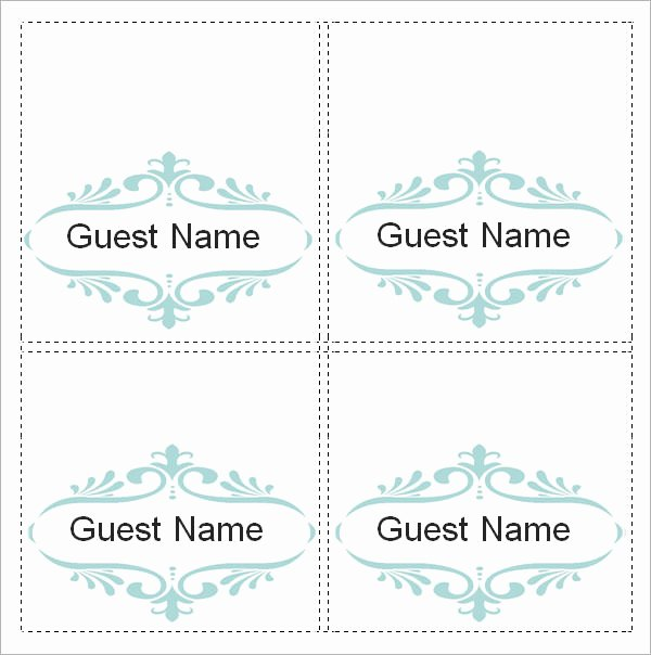 Sample Place Card Template 6 Free Documents Download In