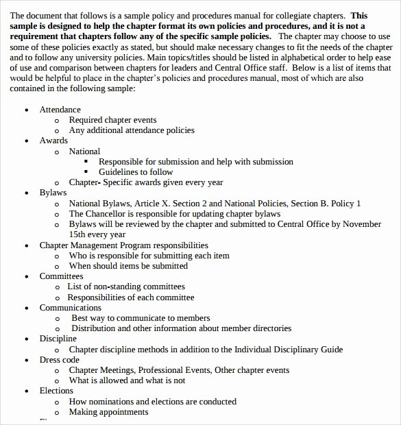 Sample Procedure Manual Template 8 Free Documents In