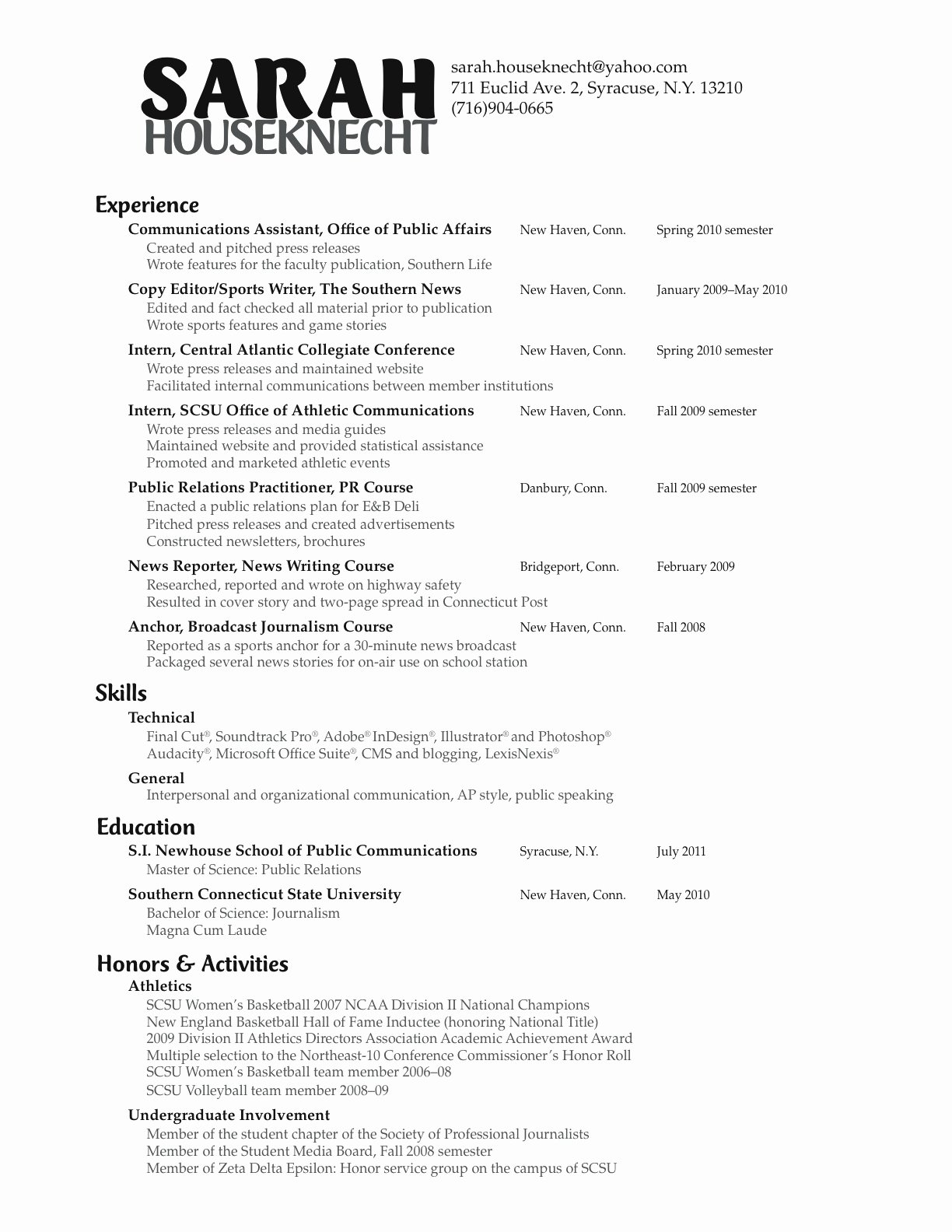 Sample Public Relations Manager Resume Military