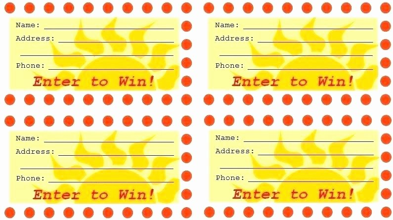 Sample Raffle Tickets to Print Ticket Template