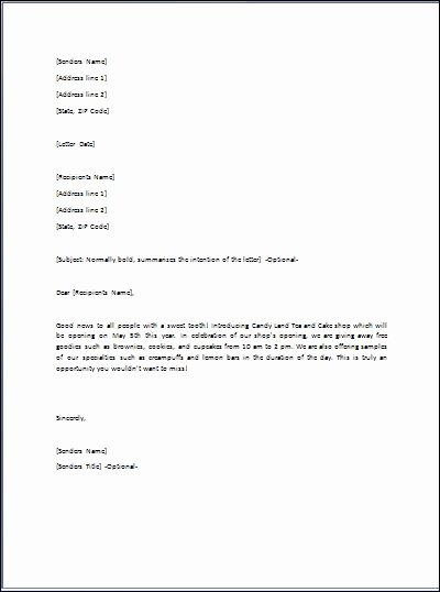 Sample Ready to Use Gift Letter Template