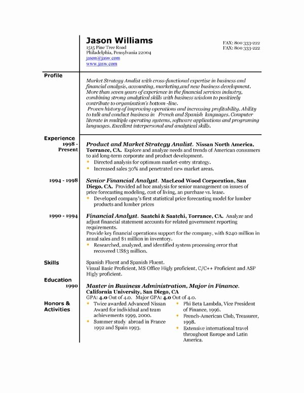 Sample Resume 85 Free Sample Resumes by Easyjob