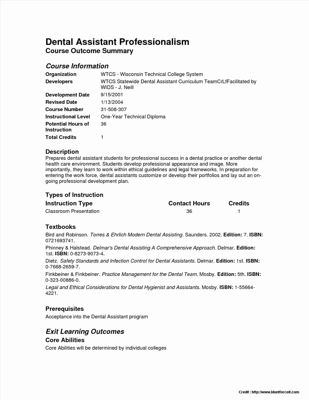 Sample Resume Dental assistant No Experience Resume