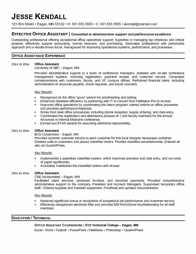 Sample Resume Fice Manager Bookkeeper