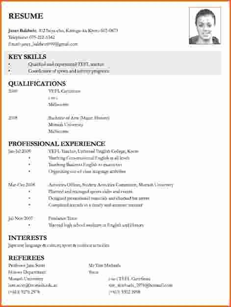 Sample Resume for Applying Teaching Job Best Resume