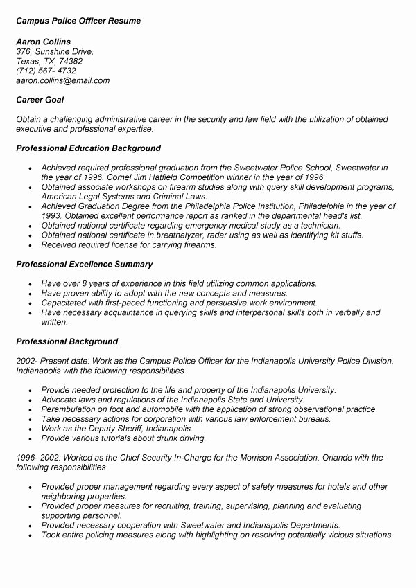 Sample Resume for Campus Job Resume Ideas