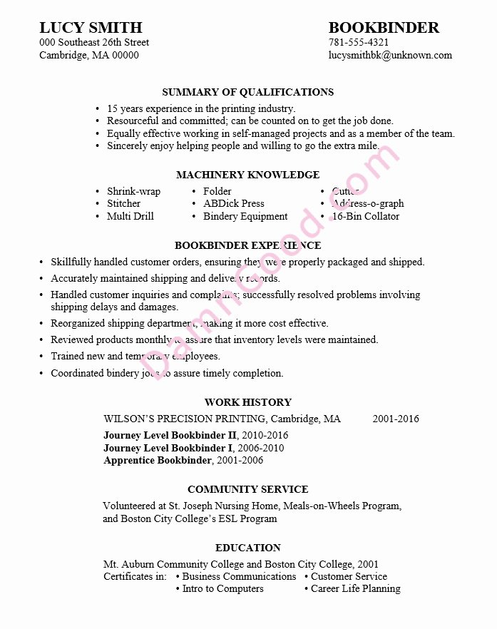 Sample Resume for College Graduate