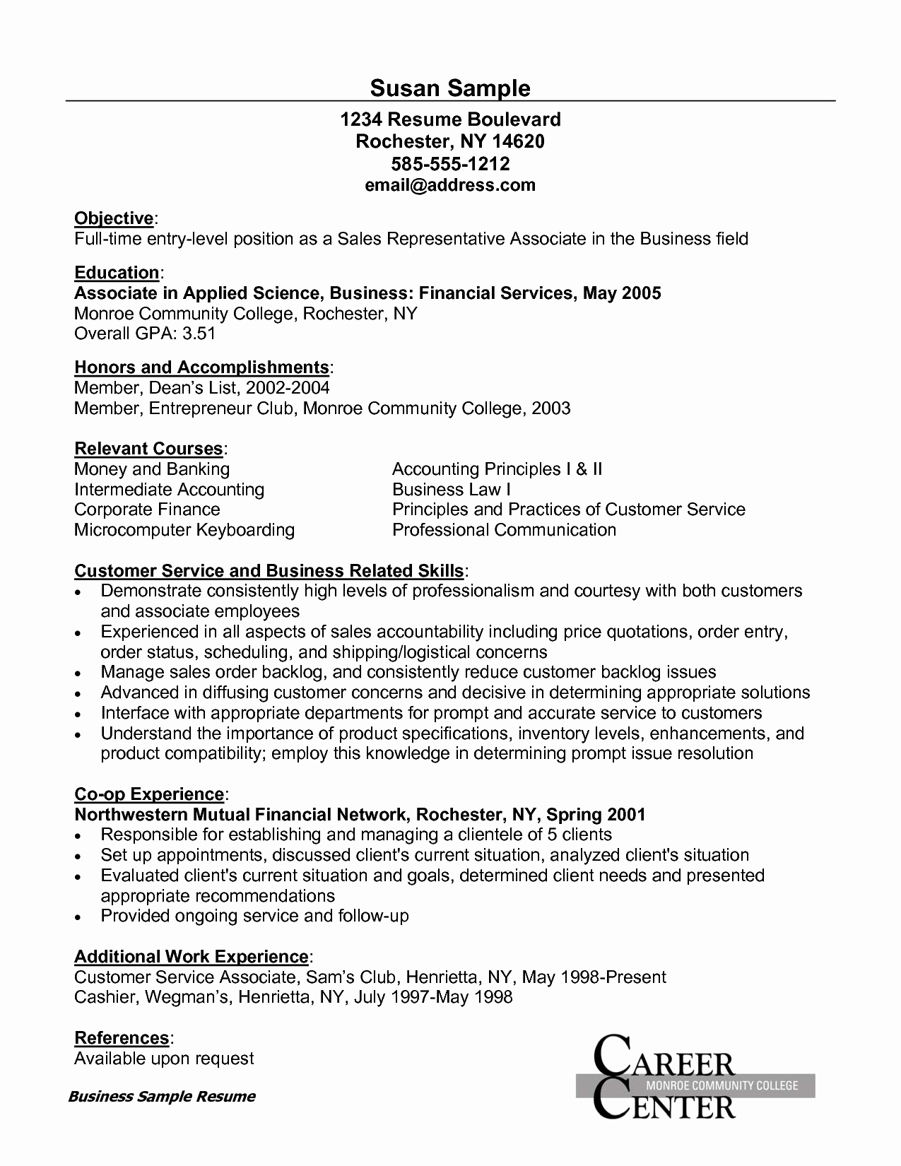 Sample Resume for Customer Service associate Bongdaao