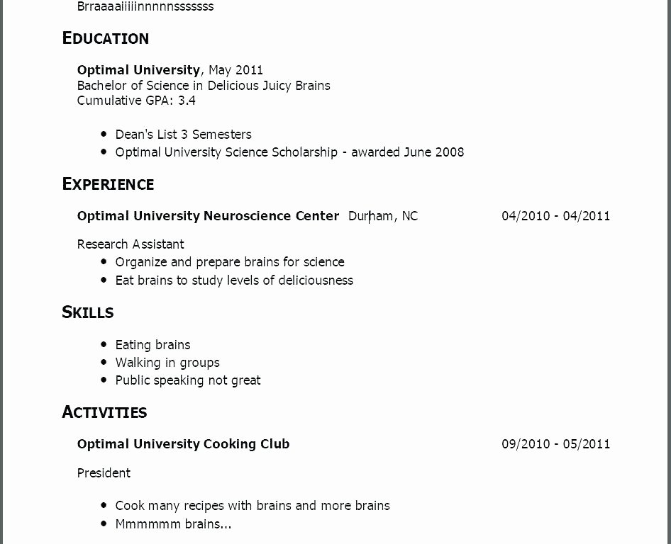 Sample Resume for Job – Creero