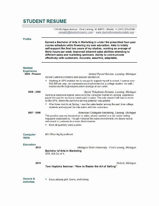 Sample Resume for Nursing School Application Best Resume
