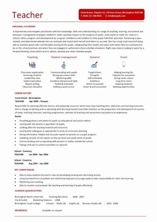 Sample Resume for Teachers without Experience Best