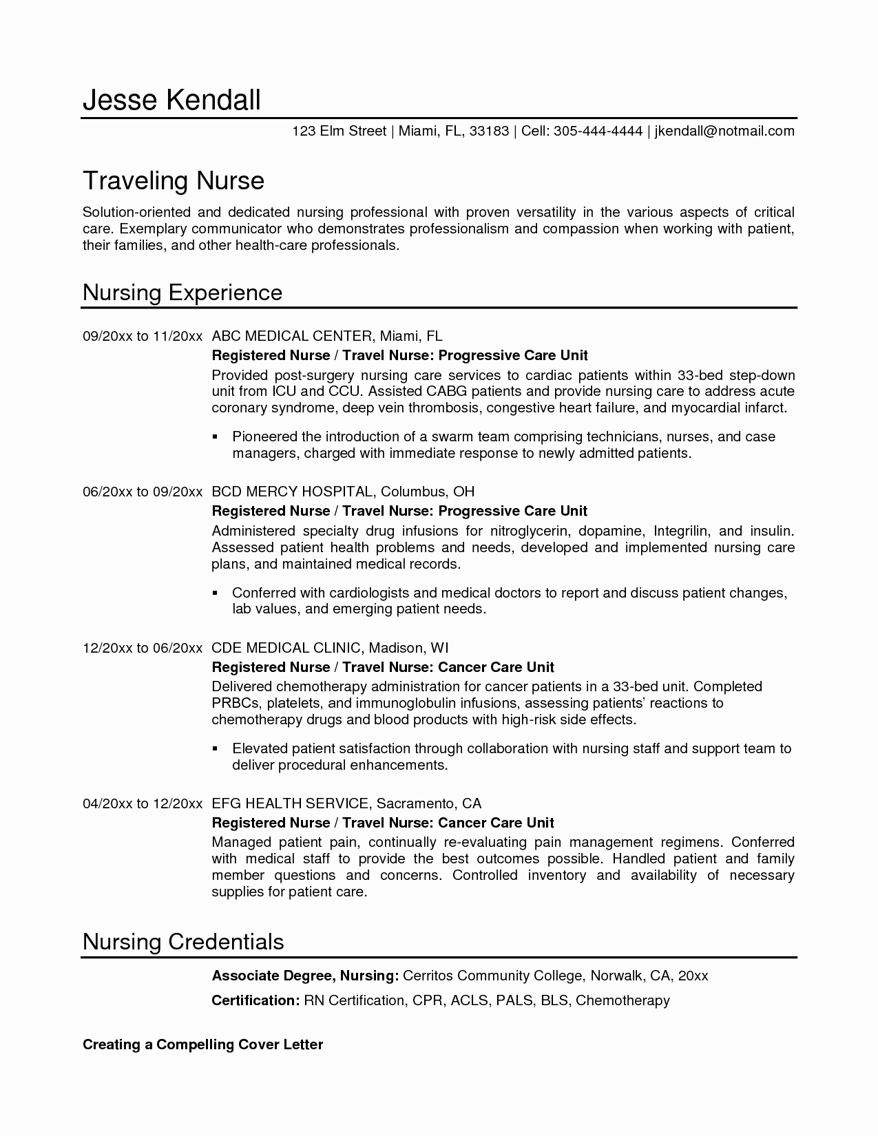 Sample Resume format for Nurses Nursing Student Resumes