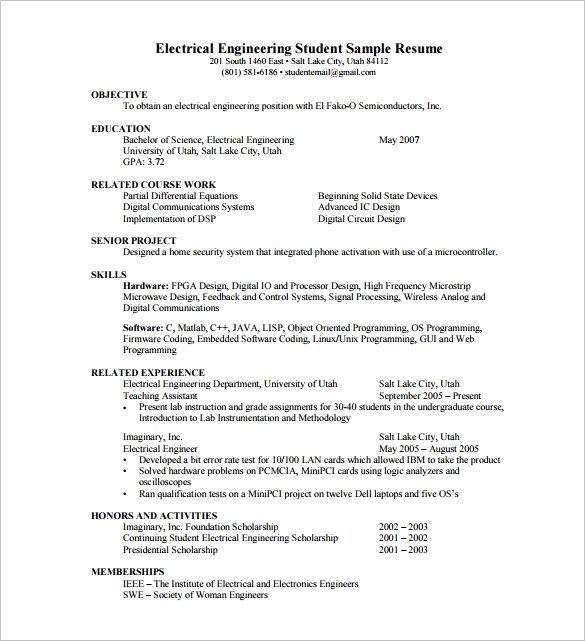 Sample Resume format Pdf Best Resume Gallery