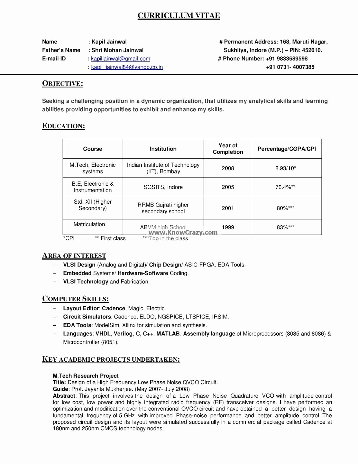 Sample Resume In Puter Technician Bongdaao
