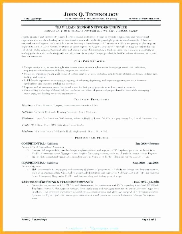 Sample Resume List Core Petencies Project Manager