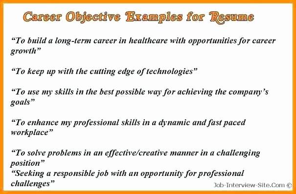 Sample Resume Objective for Career Change