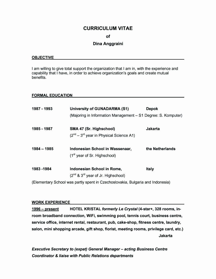 Sample Resume Objective Statements General