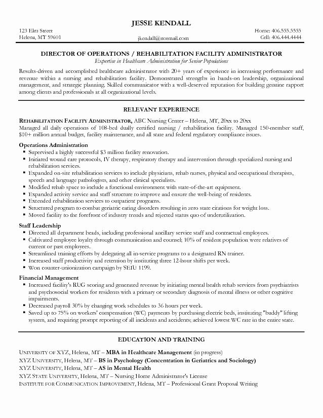 Sample Resume Objectives Health Care