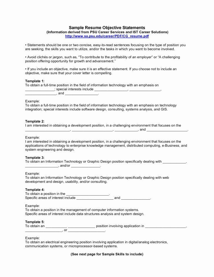 Sample Resume Profile Statements