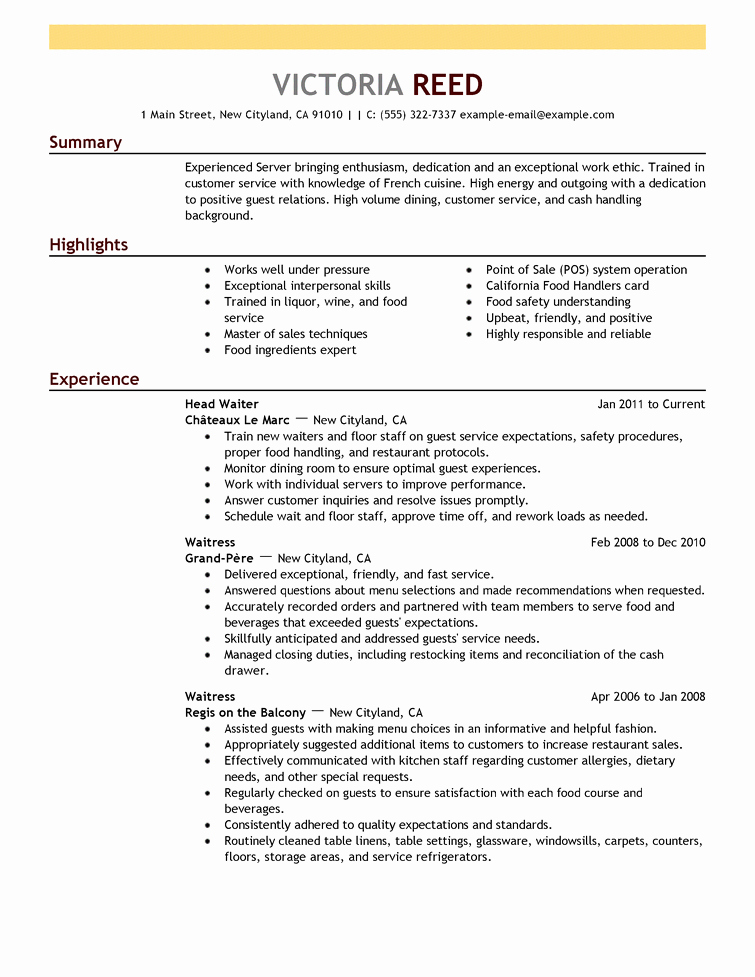 Sample Resume Resume Cv