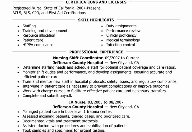 Sample Resume Resume Sle for Nicu Nurses Patient