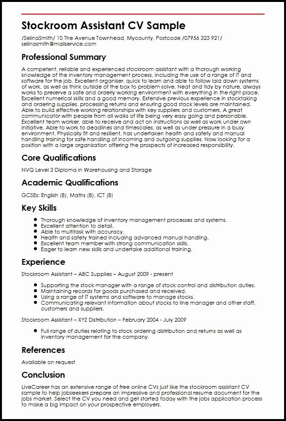 Sample Resume Skills and Qualifications