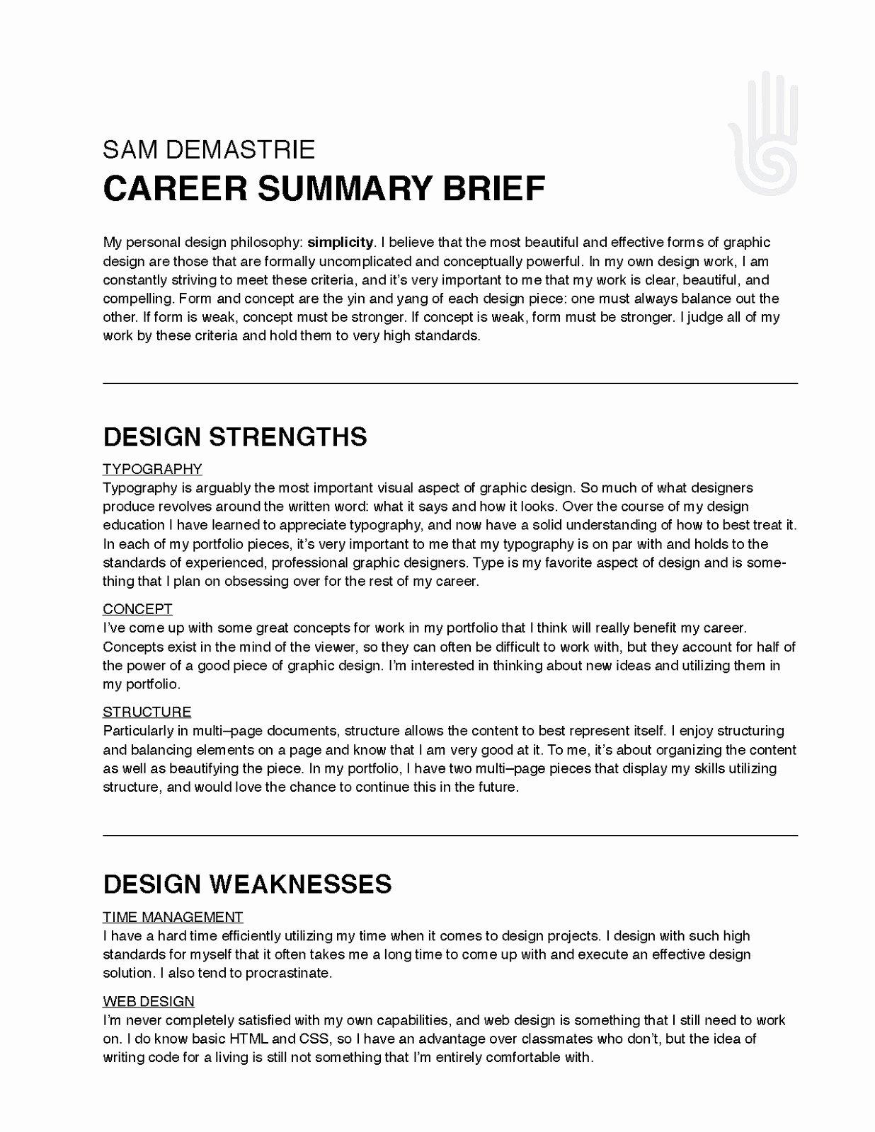 Sample Resume Summaries Talktomartyb