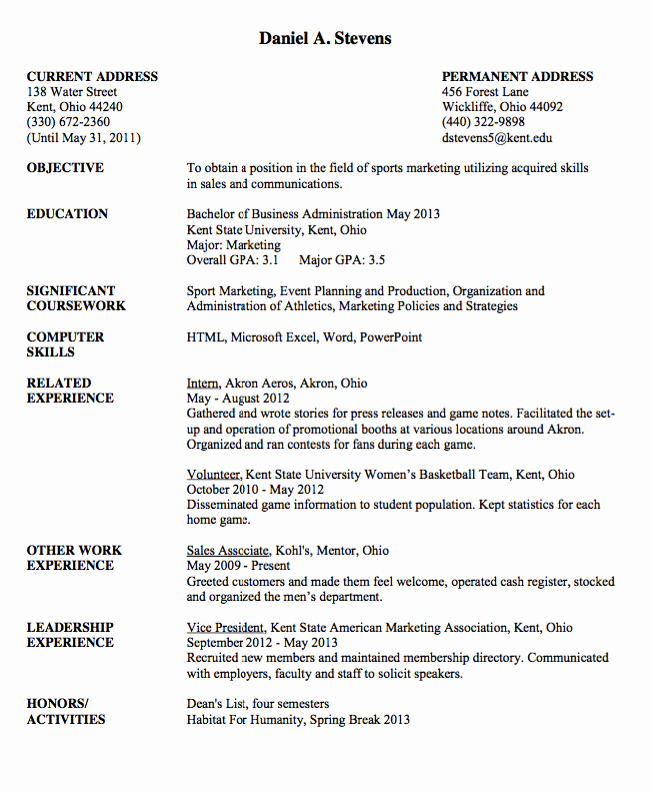 Sample Resume Vice President