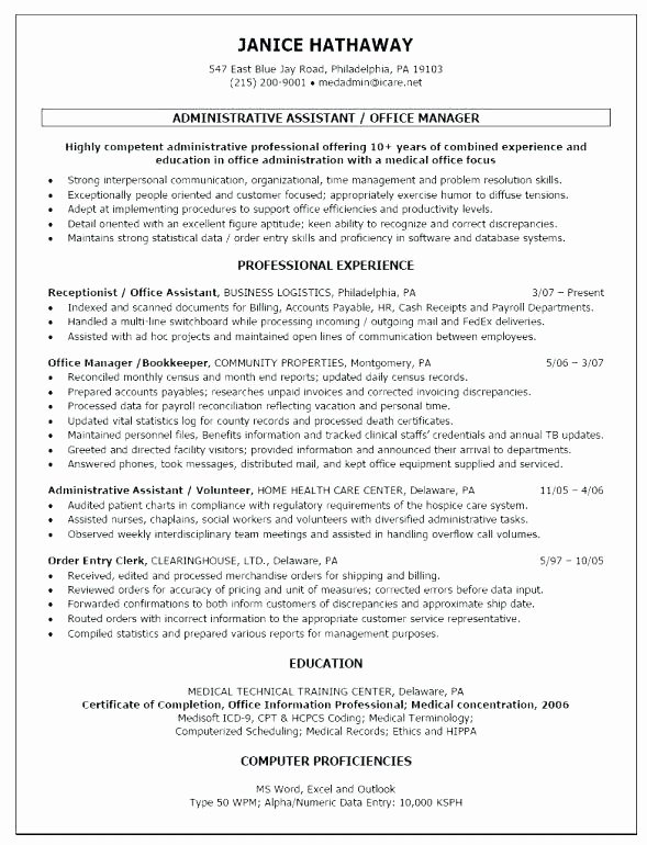 Sample Resumes for Office Manager – Amere