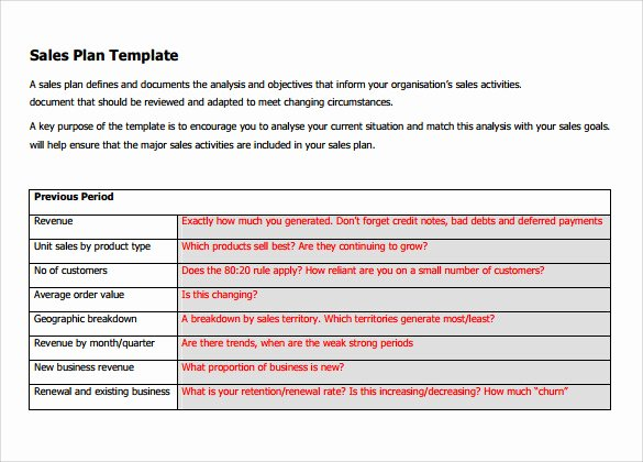 Sample Sales Plan Template 17 Free Documents In Pdf
