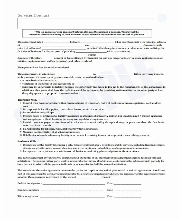 Sample Service Contract Agreement forms 6 Free
