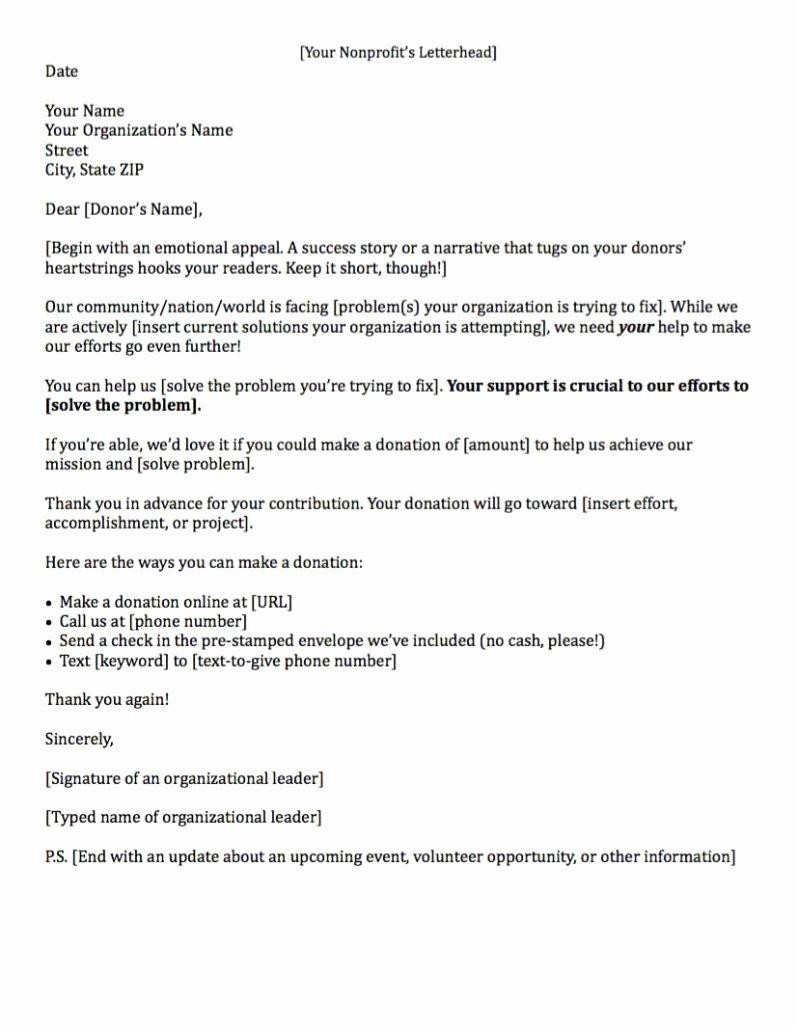 Sample Sponsorship Request Letter for Non Profit