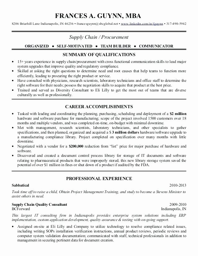 Sample Supply Chain Management Cover Letter for Manager