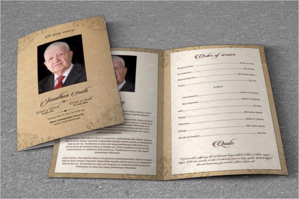 Sample theme 43 Sample Funeral Program Brochure Templates