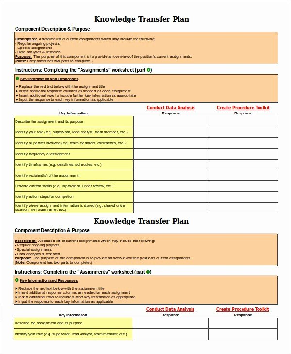 Sample Transition Plan