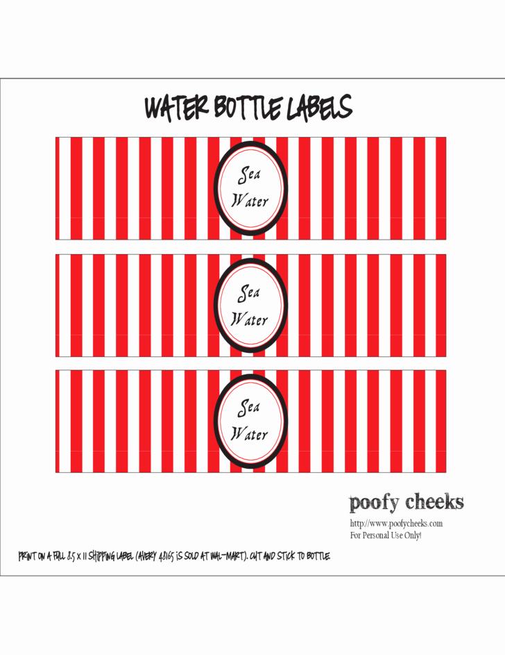 Sample Water Bottle Label Free Download