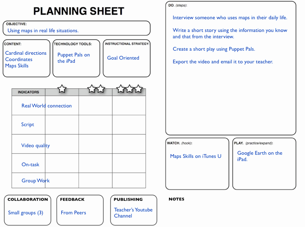 Samr Planning Sheet Sample