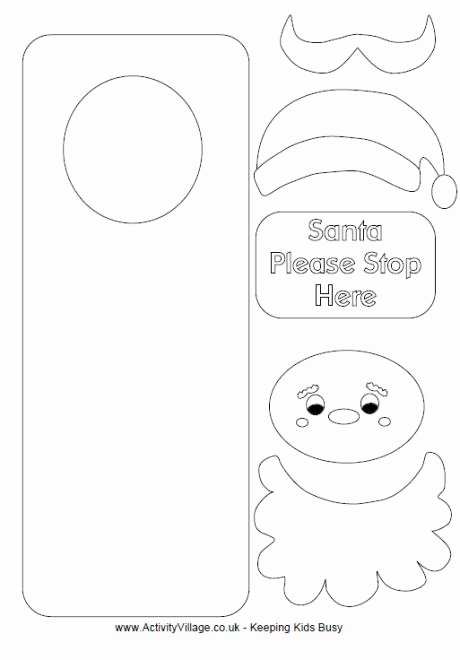 santa door hanger printable
