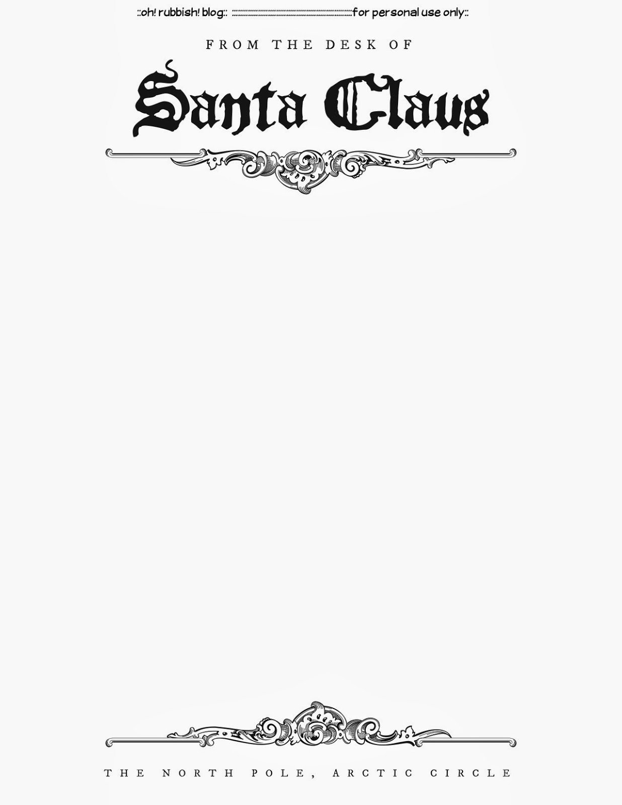 Santa Letter Template Free Printable Thanks for the