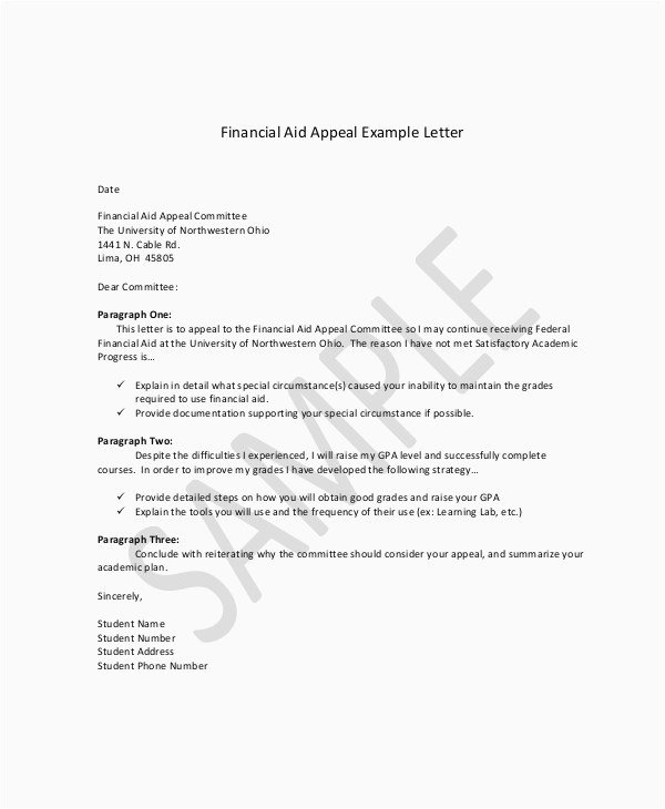 Sap Appeal Letter Example Professional Admission Appeal