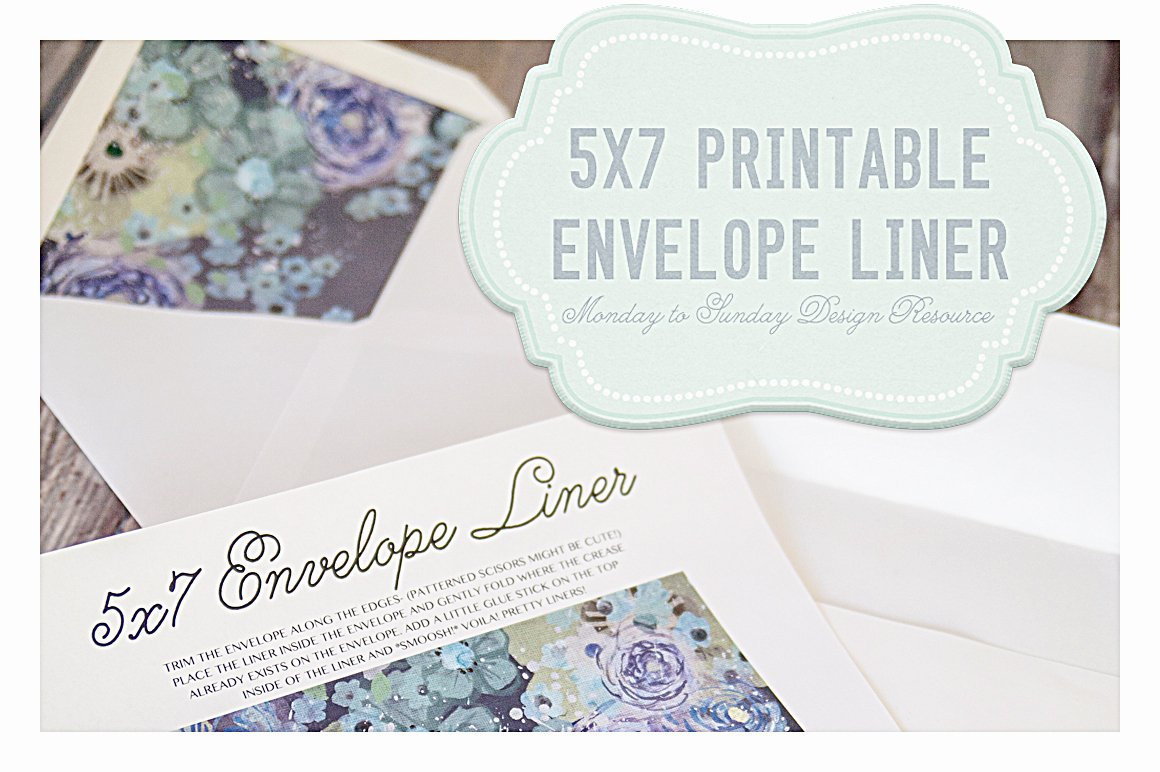 Save 5x7 Handy Envelope Liners Invitation Templates