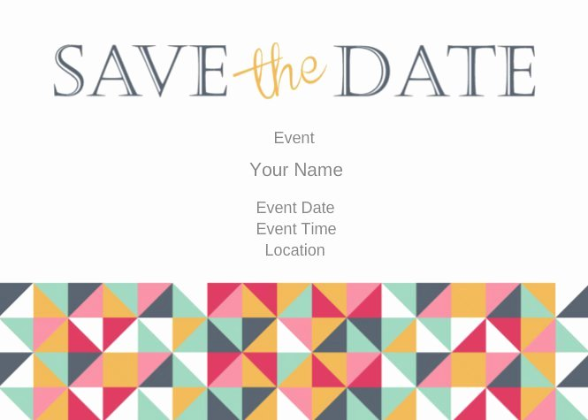 """Save the Date 5"""" X 7"""" Postcard Templates and Printing"""