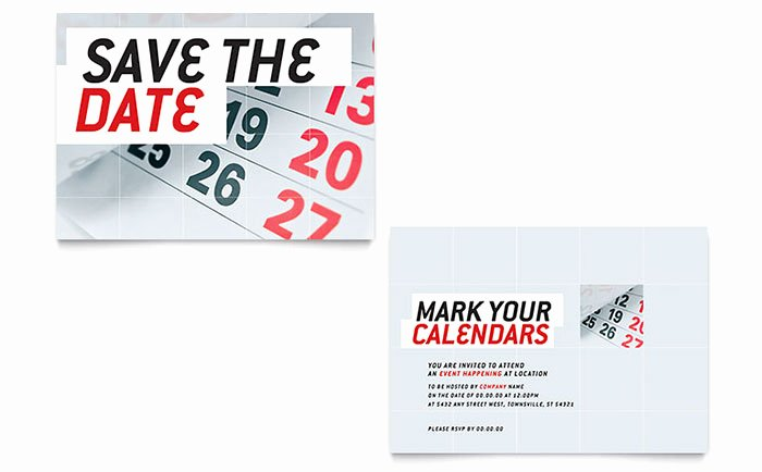 Save the Date Announcement Template Word & Publisher