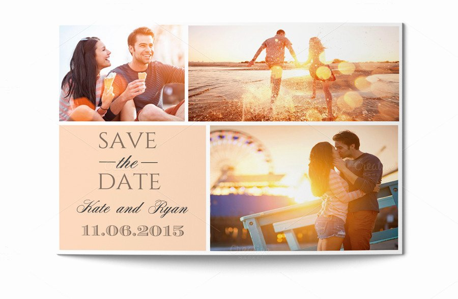 Save the Date Card Invitation Templates On Creative Market