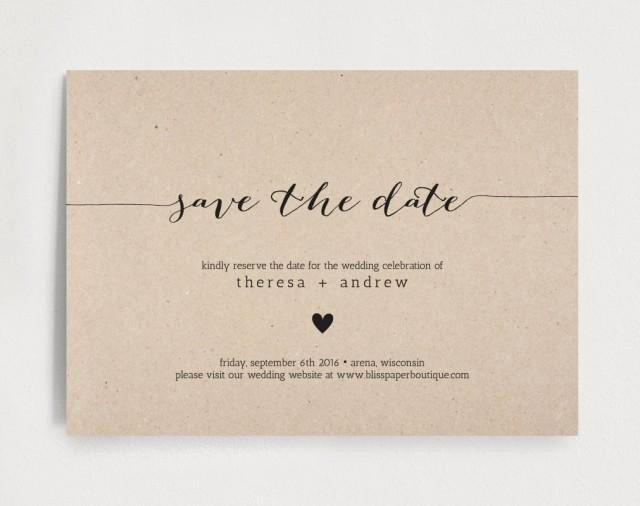 Save the Date Invitation Wedding Rehearsal Editable