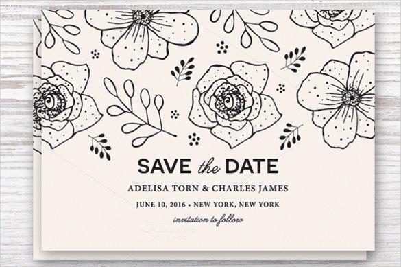 Save the Date Postcard Template – 25 Free Psd Vector Eps